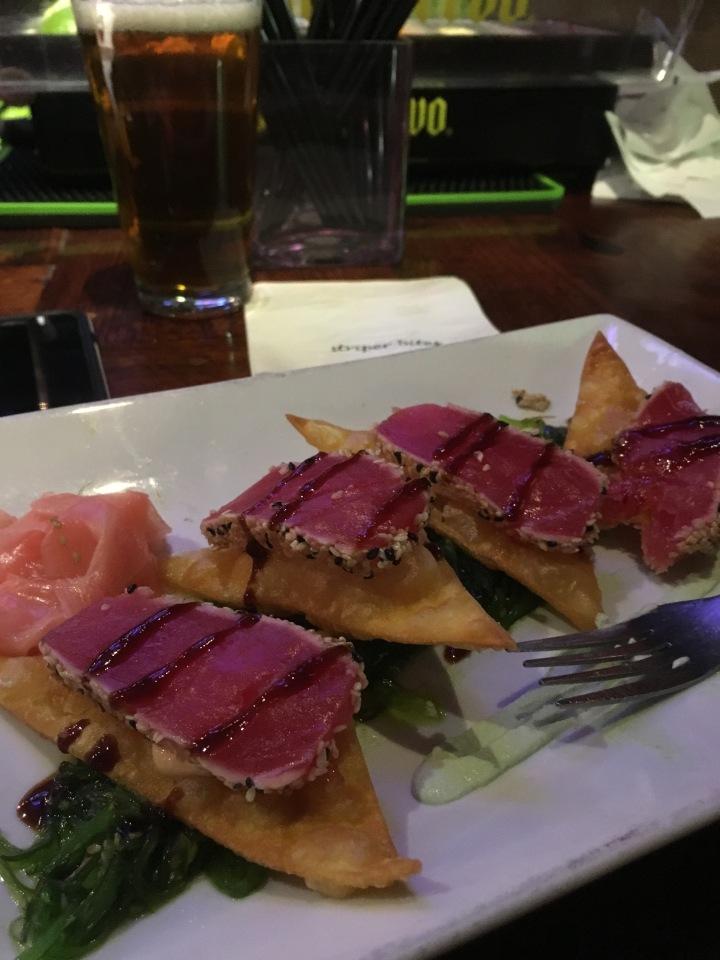 Seared Tuna Wontons
