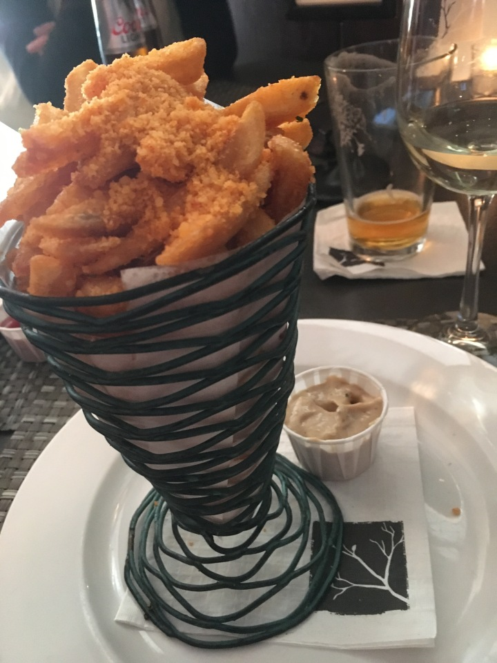 On to Kindle (one of SB's sister restaurants)....I would WALK the 3 miles from my house for their Fire Fries, encrusted with parmesan cheese (and jalapeno?), served with a roasted garlic mayo. I've never found them anywhere else.